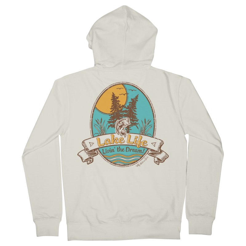 Lake Life - Living the Dream Men's Zip-Up Hoody by My Nature Side