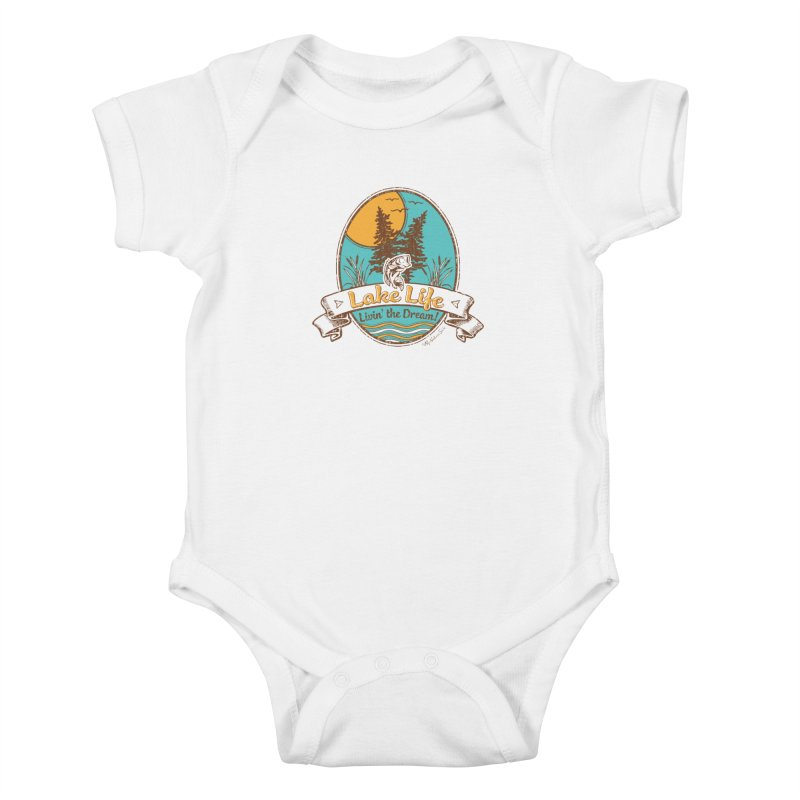 Lake Life - Living the Dream Kids Baby Bodysuit by My Nature Side