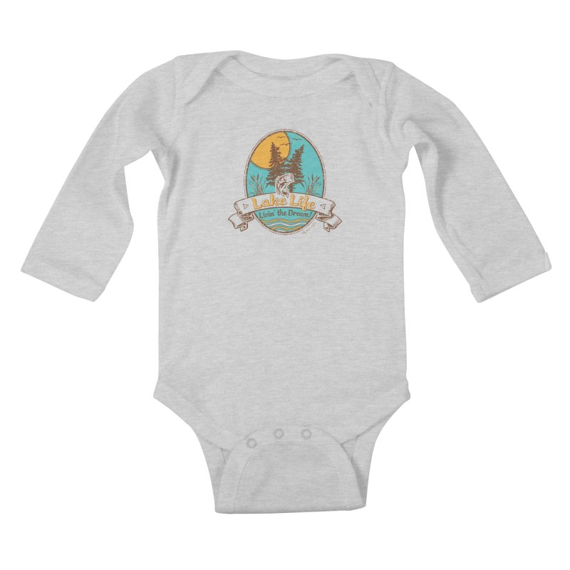 Lake Life - Living the Dream Kids Baby Longsleeve Bodysuit by My Nature Side