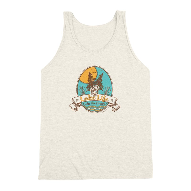 Lake Life - Living the Dream Men's Triblend Tank by My Nature Side
