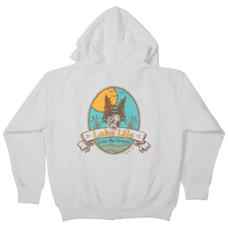 Lake Life - Living the Dream Kids Zip-Up Hoody by My Nature Side