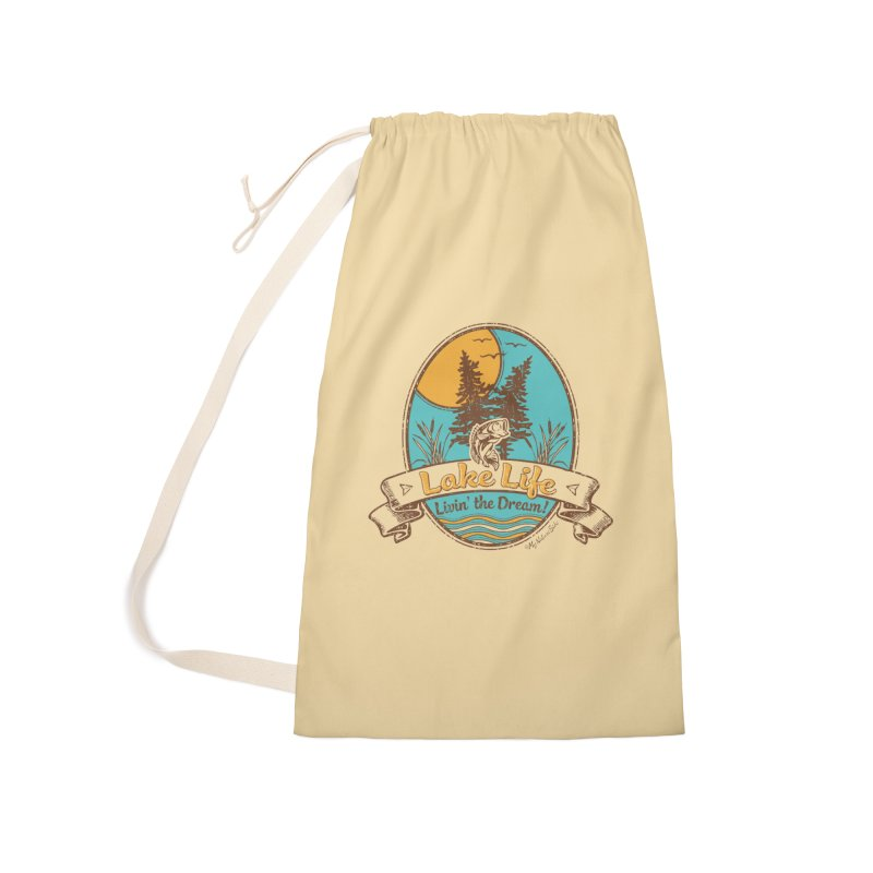 Lake Life - Living the Dream Accessories Laundry Bag Bag by My Nature Side