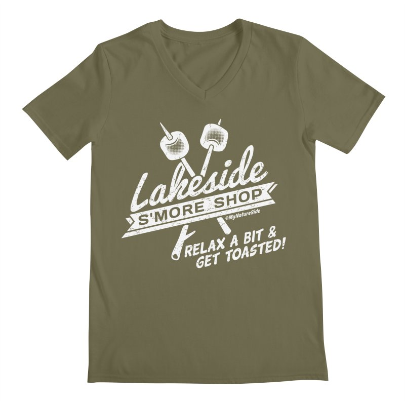 Lakeside Smore Shop Men's Regular V-Neck by My Nature Side