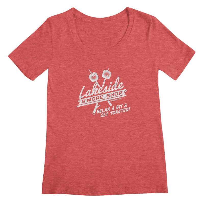 Lakeside Smore Shop Women's Regular Scoop Neck by My Nature Side