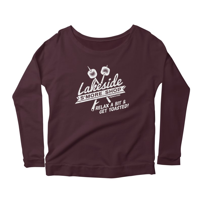 Lakeside Smore Shop Women's Longsleeve Scoopneck  by My Nature Side