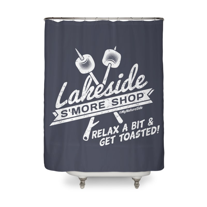 Lakeside Smore Shop Home Shower Curtain by My Nature Side
