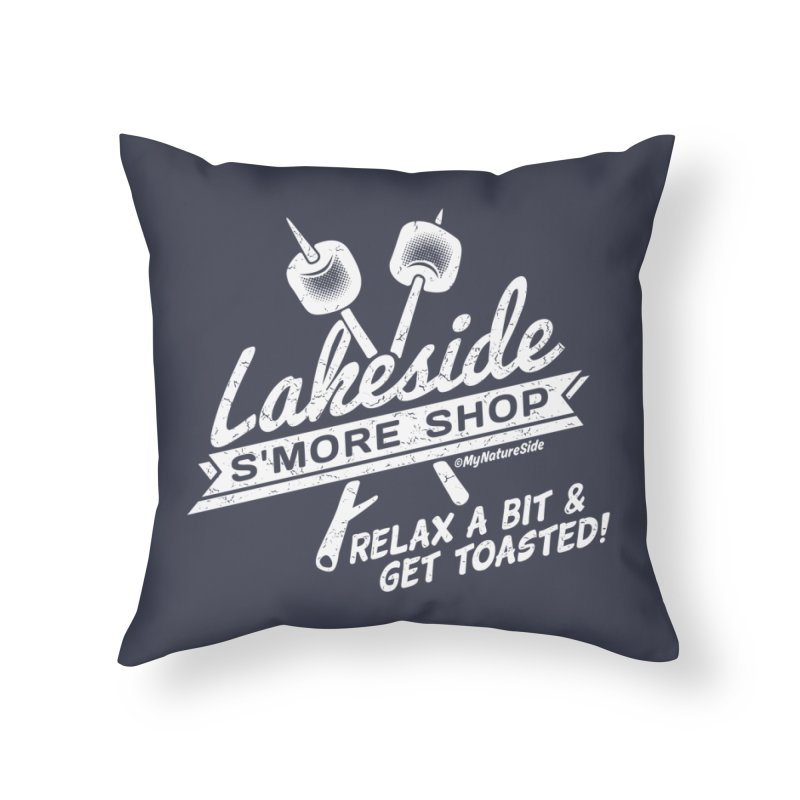 Lakeside Smore Shop Home Throw Pillow by My Nature Side