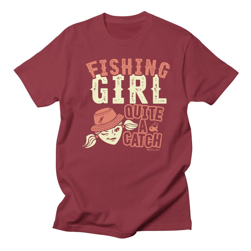Fishing Girl Quite a Catch Men's Regular T-Shirt by My Nature Side