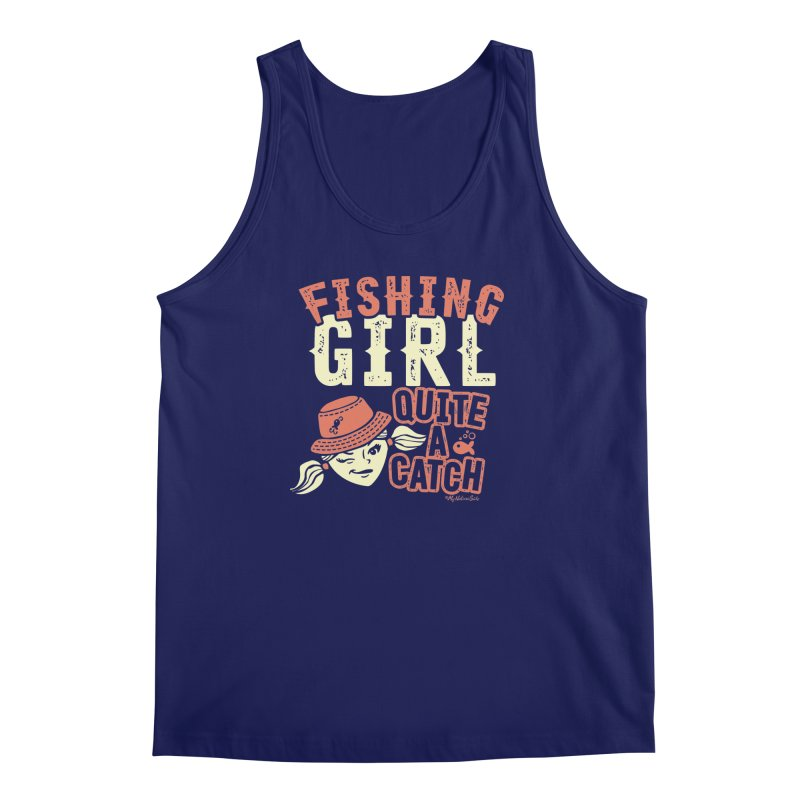 Fishing Girl Quite a Catch Men's Regular Tank by My Nature Side