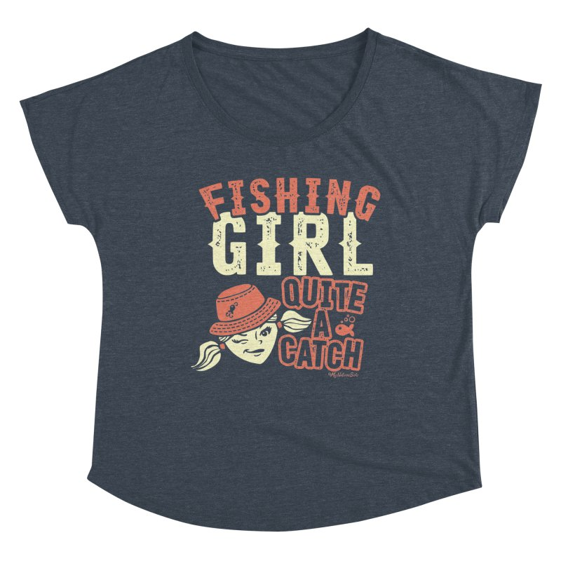 Fishing Girl Quite a Catch Women's Scoop Neck by My Nature Side