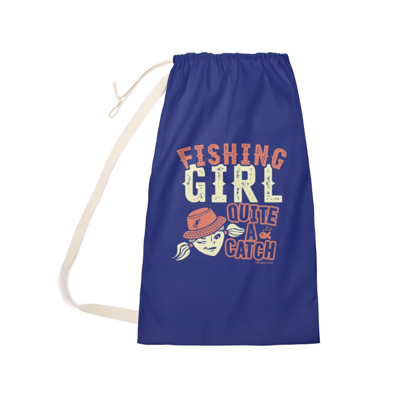 Fishing Girl Quite a Catch Accessories Laundry Bag Bag by My Nature Side