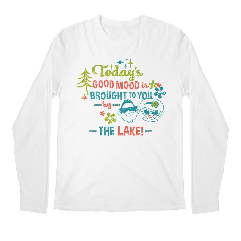 Today's Good Mood is Brought to You by The Lake Men's Regular Longsleeve T-Shirt by My Nature Side
