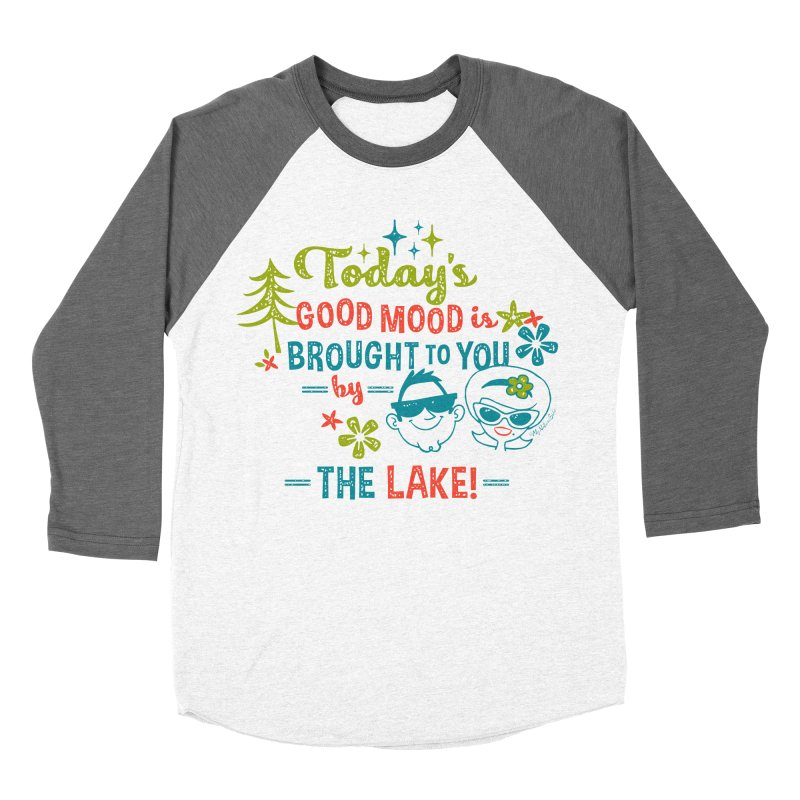 Today's Good Mood is Brought to You by The Lake Women's Baseball Triblend Longsleeve T-Shirt by My Nature Side