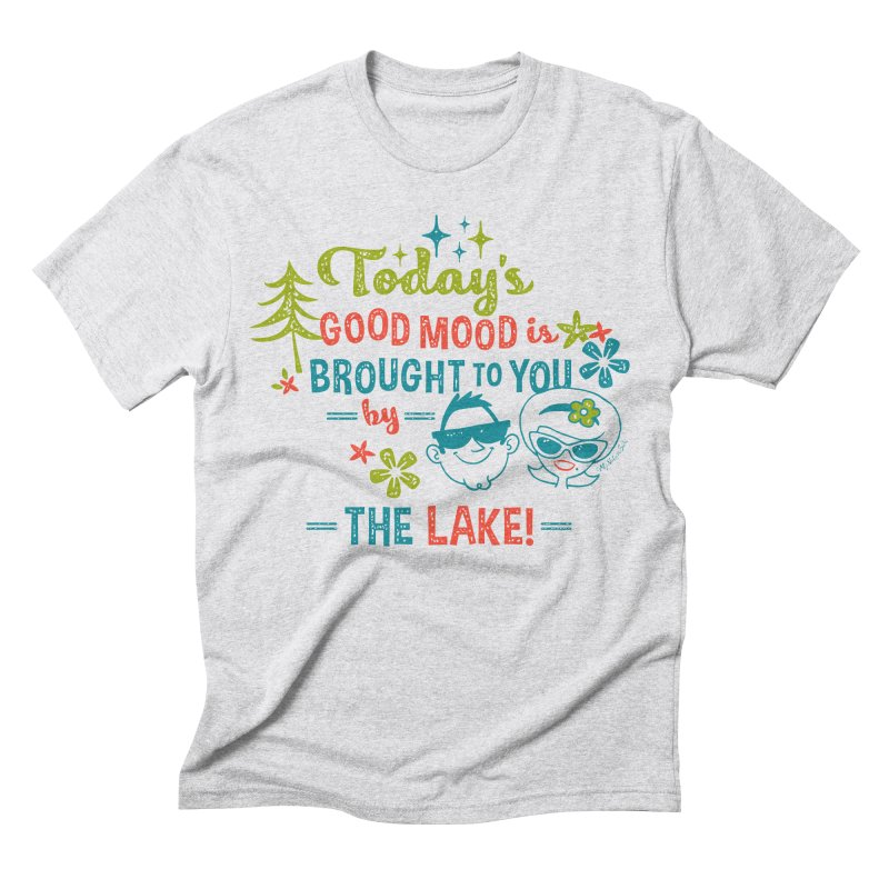 Today's Good Mood is Brought to You by The Lake Men's Triblend T-shirt by My Nature Side