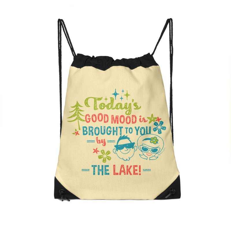 Today's Good Mood is Brought to You by The Lake Accessories Drawstring Bag Bag by My Nature Side