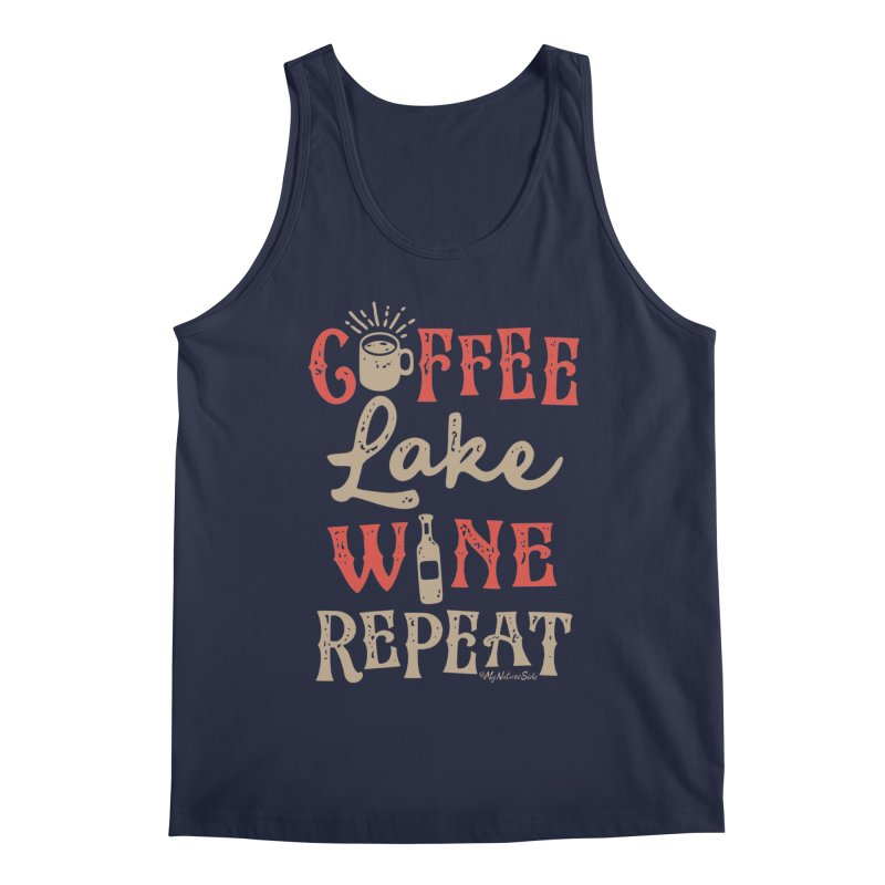 Coffee Lake Wine Repeat Men's Tank by My Nature Side