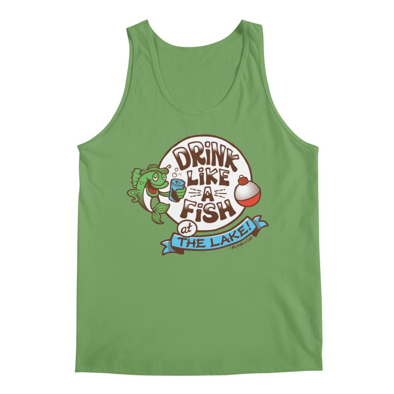 Drink Like A Fish At The Lake Men's Tank by My Nature Side