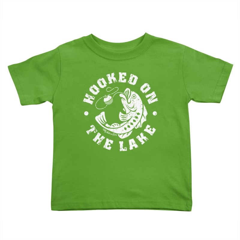Hooked on the Lake Kids Toddler T-Shirt by My Nature Side