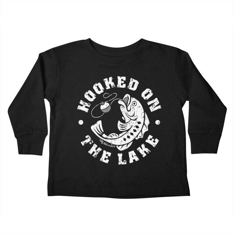 Hooked on the Lake Kids Toddler Longsleeve T-Shirt by My Nature Side