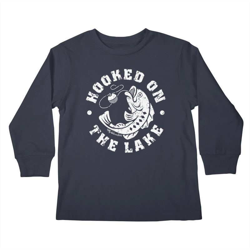 Hooked on the Lake Kids Longsleeve T-Shirt by My Nature Side