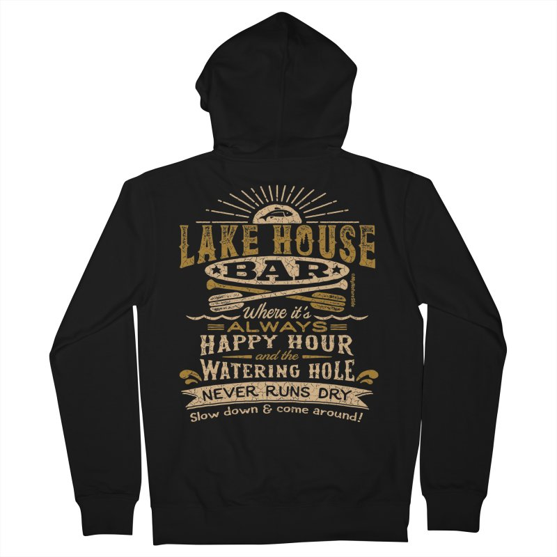 Lake House Bar Men's French Terry Zip-Up Hoody by My Nature Side