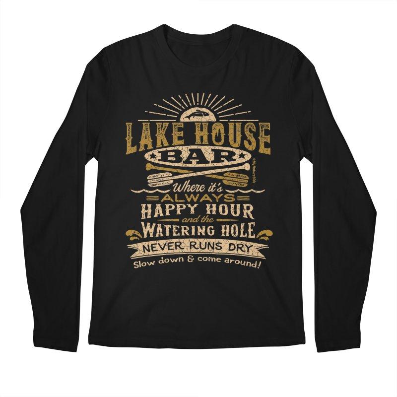 Lake House Bar Men's Regular Longsleeve T-Shirt by My Nature Side
