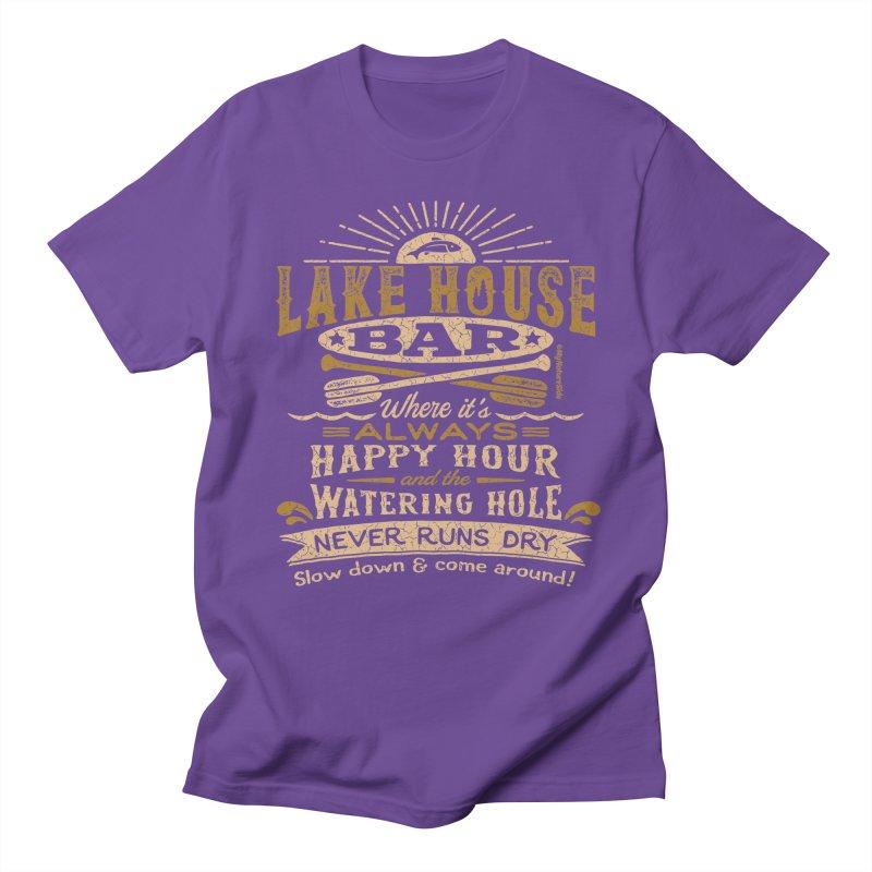 Lake House Bar Men's Regular T-Shirt by My Nature Side