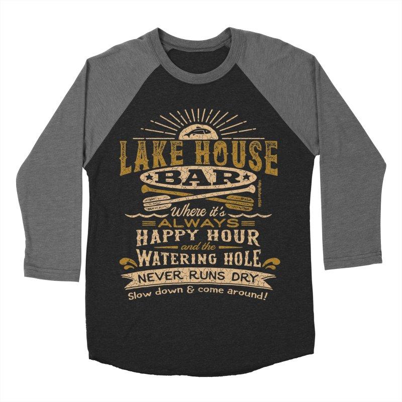 Lake House Bar Women's Baseball Triblend Longsleeve T-Shirt by My Nature Side