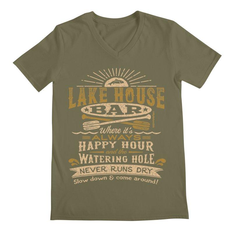Lake House Bar Men's V-Neck by My Nature Side