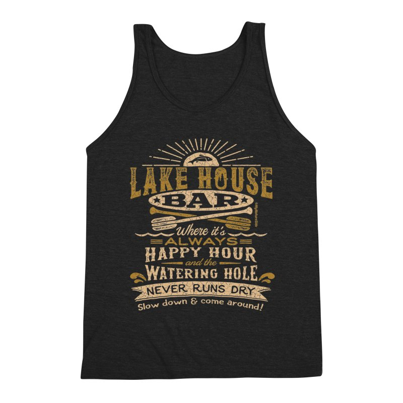 Lake House Bar Men's Tank by My Nature Side