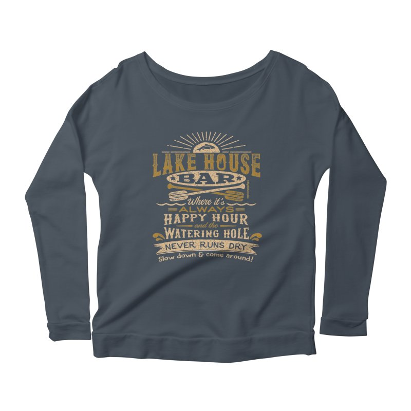 Lake House Bar Women's Scoop Neck Longsleeve T-Shirt by My Nature Side