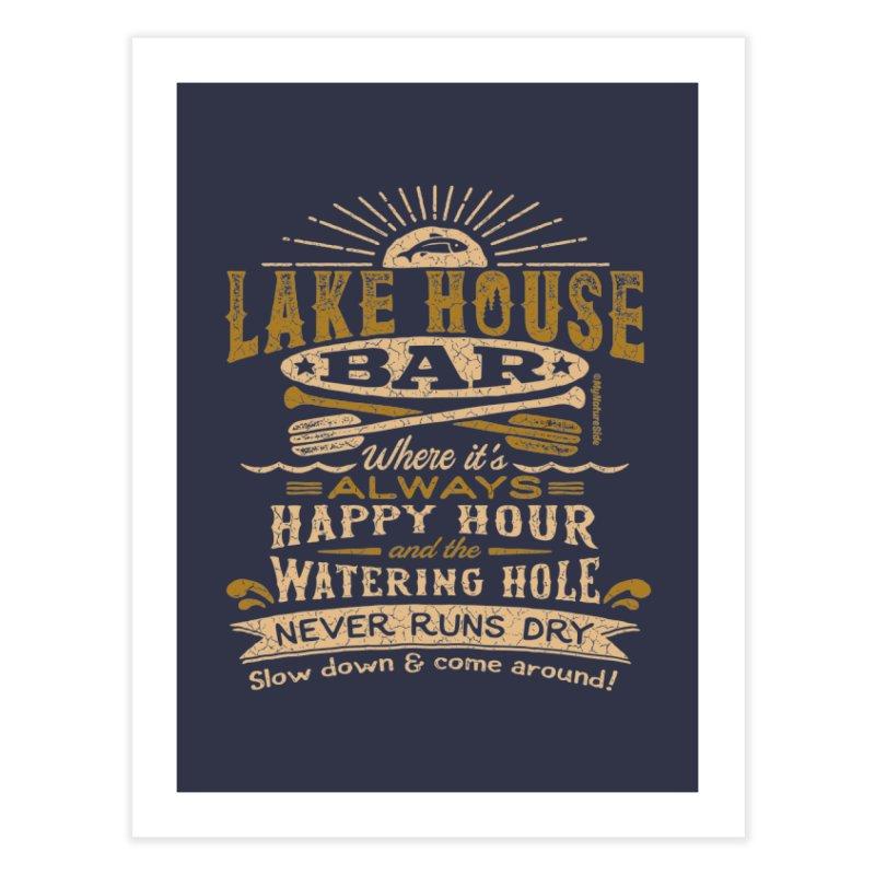Lake House Bar Home Fine Art Print by My Nature Side
