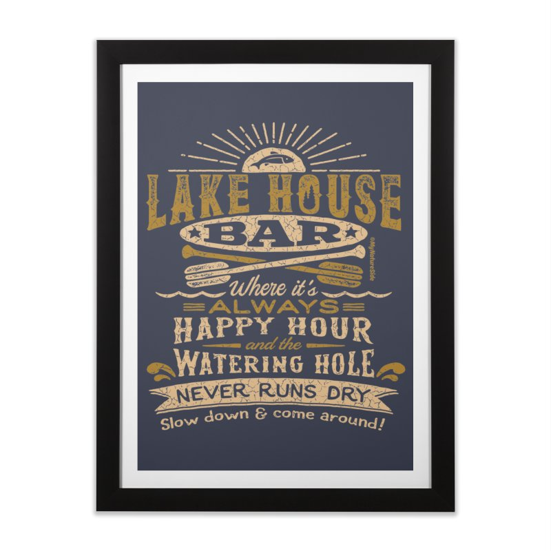 Lake House Bar Home Framed Fine Art Print by My Nature Side