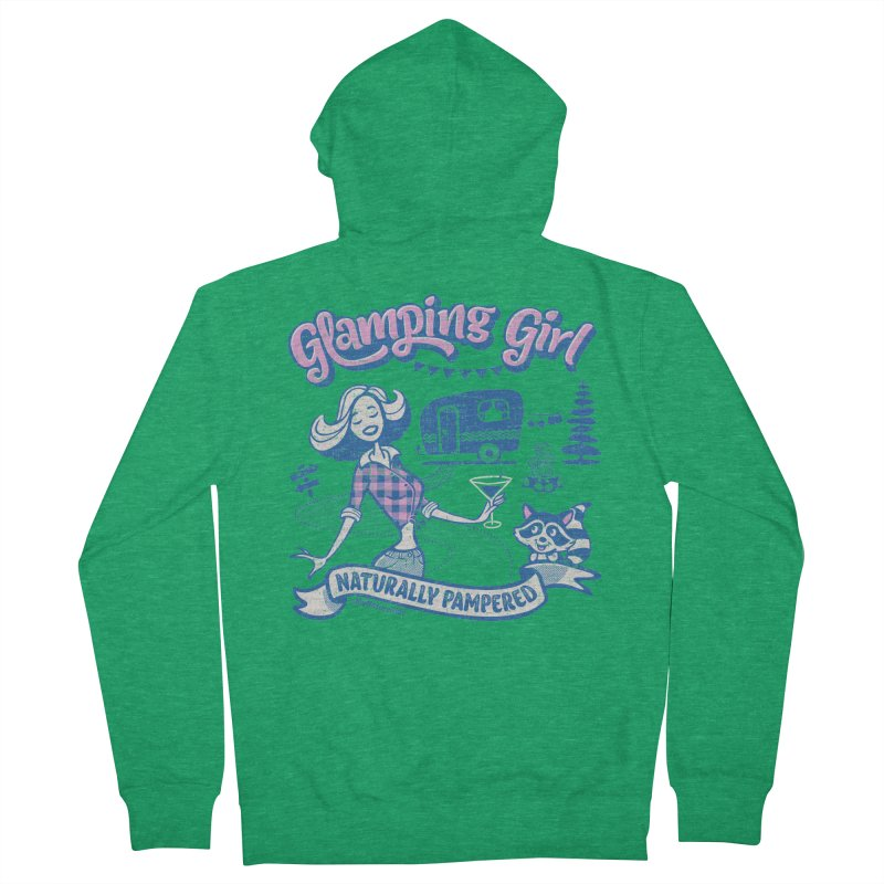 Glamping Girl Women's French Terry Zip-Up Hoody by My Nature Side