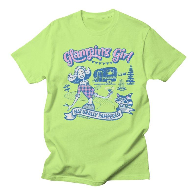 Glamping Girl Men's Regular T-Shirt by My Nature Side