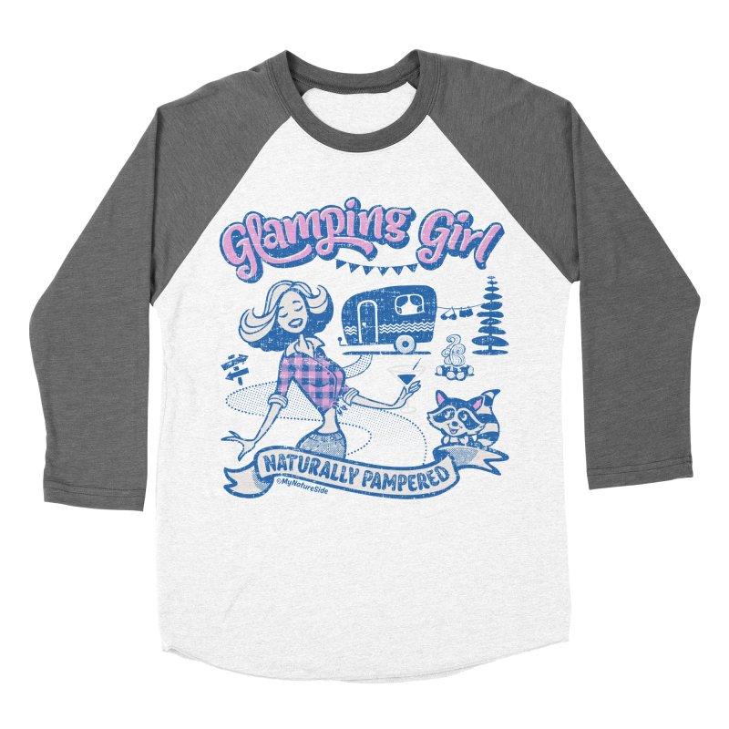Glamping Girl Women's Baseball Triblend Longsleeve T-Shirt by My Nature Side