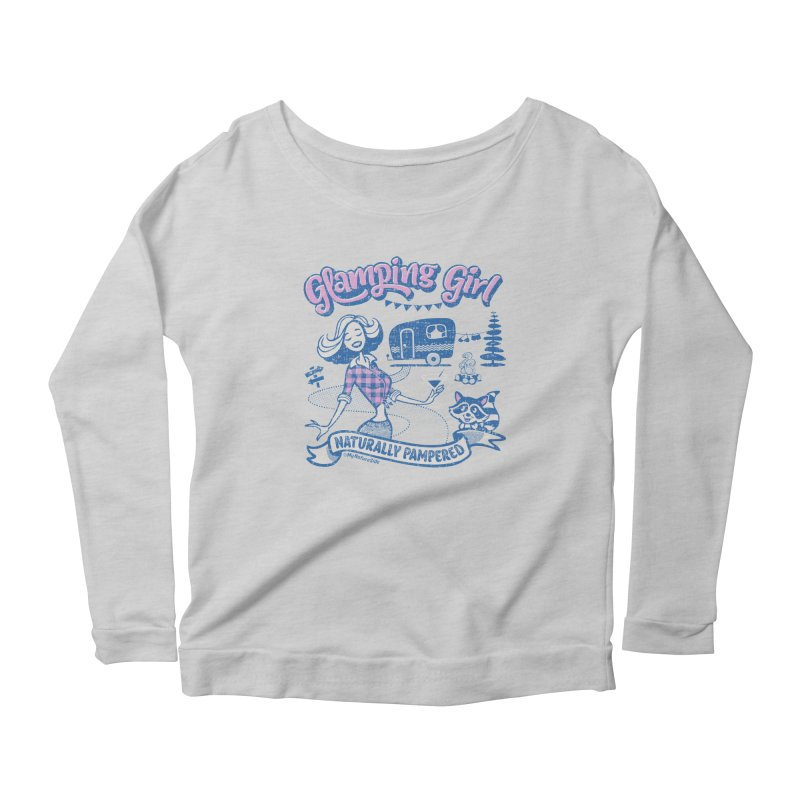 Glamping Girl Women's Scoop Neck Longsleeve T-Shirt by My Nature Side