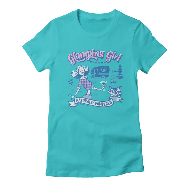 Glamping Girl Women's Fitted T-Shirt by My Nature Side