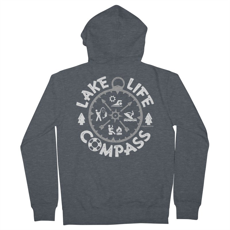 Lake Life Compass Women's French Terry Zip-Up Hoody by My Nature Side