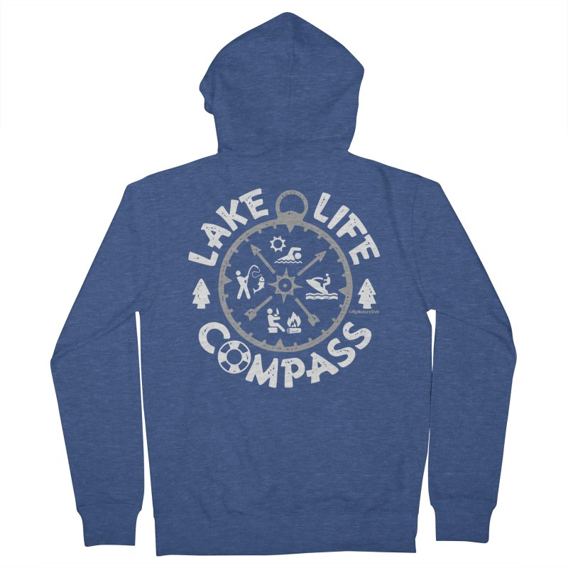 Lake Life Compass Men's Zip-Up Hoody by My Nature Side