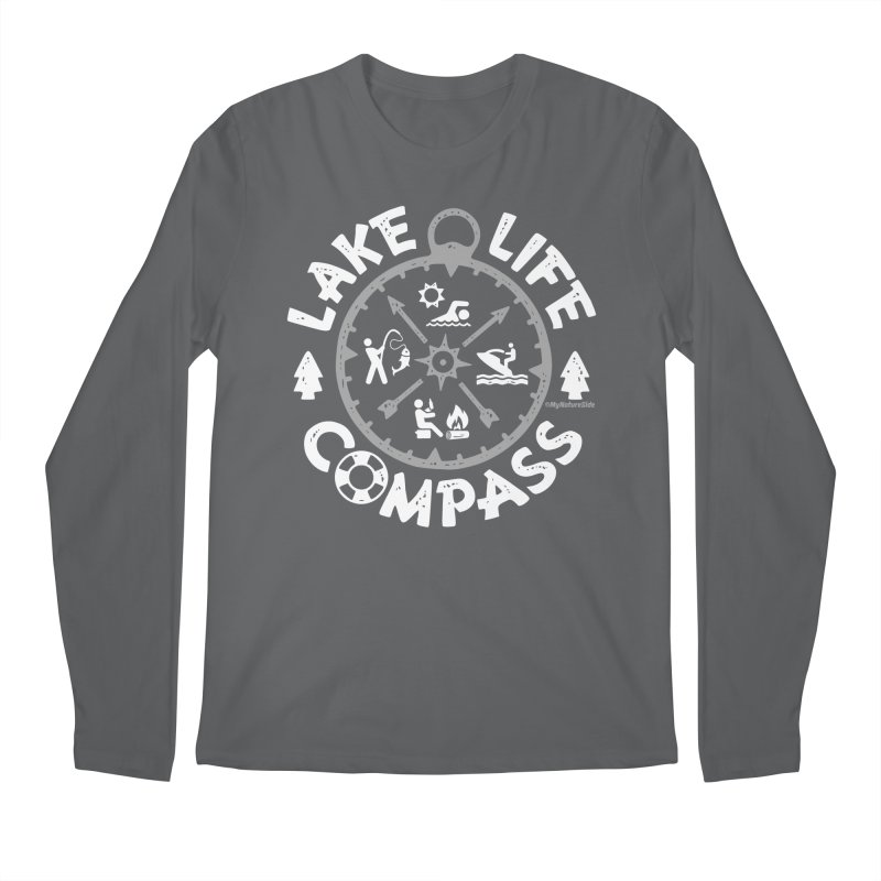 Lake Life Compass Men's Longsleeve T-Shirt by My Nature Side