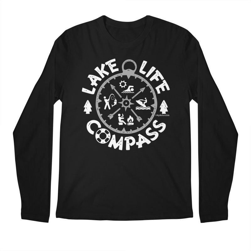Lake Life Compass Men's Regular Longsleeve T-Shirt by My Nature Side