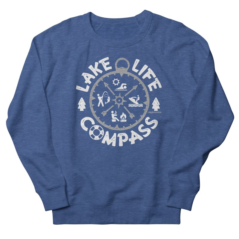 Lake Life Compass Men's Sweatshirt by My Nature Side