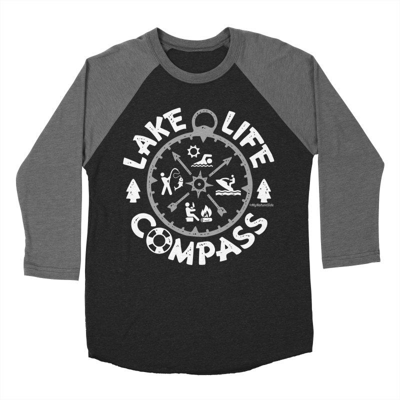 Lake Life Compass Women's Baseball Triblend Longsleeve T-Shirt by My Nature Side