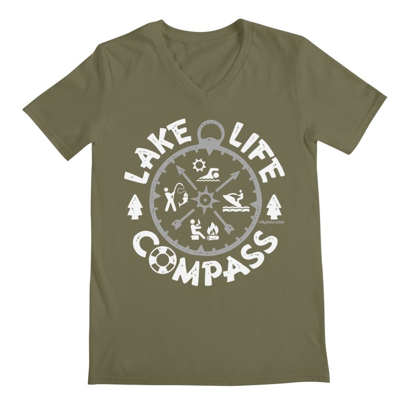 Lake Life Compass Men's V-Neck by My Nature Side