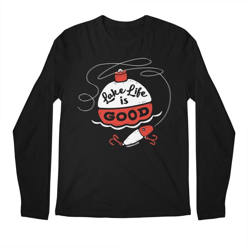 Lake Life is Good Men's Regular Longsleeve T-Shirt by My Nature Side