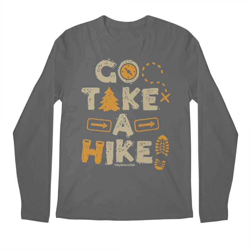 Go Take A Hike Men's Regular Longsleeve T-Shirt by My Nature Side