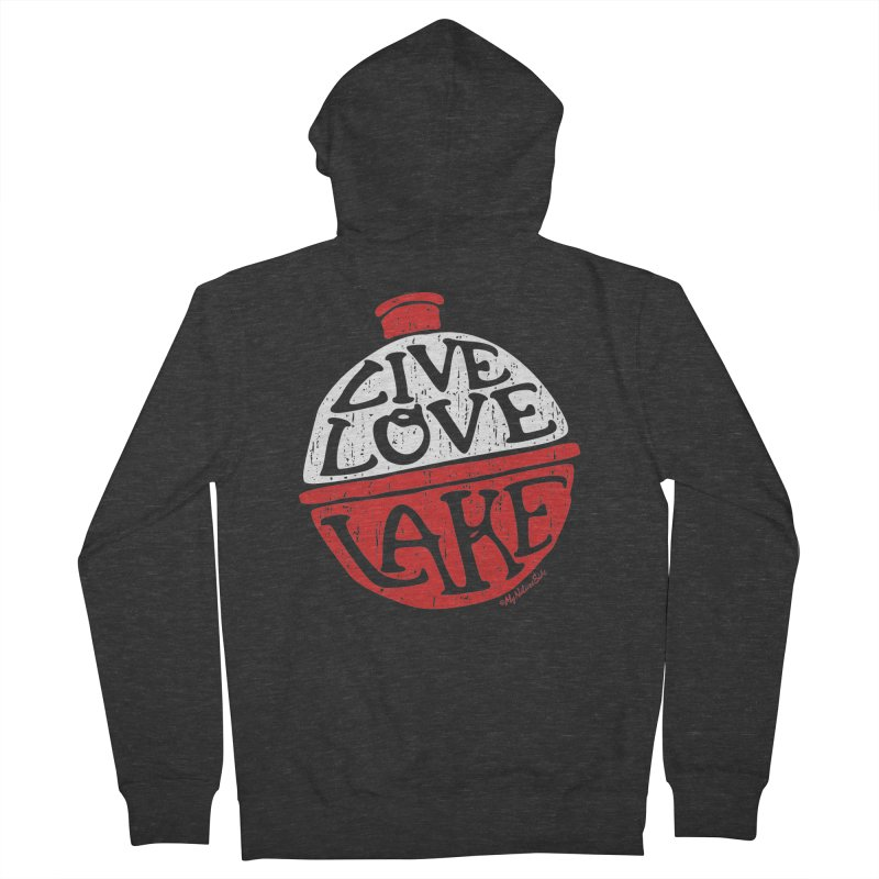 Live Love Lake - Bobber Women's French Terry Zip-Up Hoody by My Nature Side