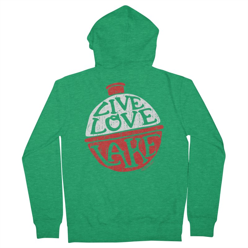 Live Love Lake - Bobber Men's Zip-Up Hoody by My Nature Side