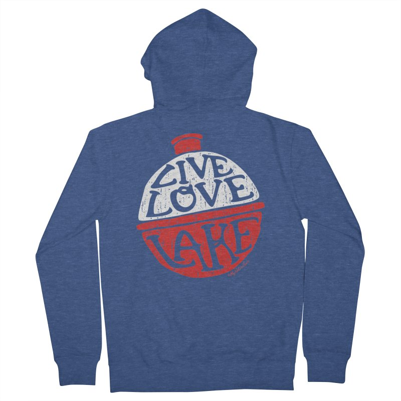 Live Love Lake - Bobber Men's French Terry Zip-Up Hoody by My Nature Side
